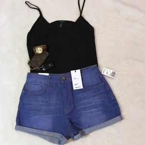 high waisted denim shorts | forever 21